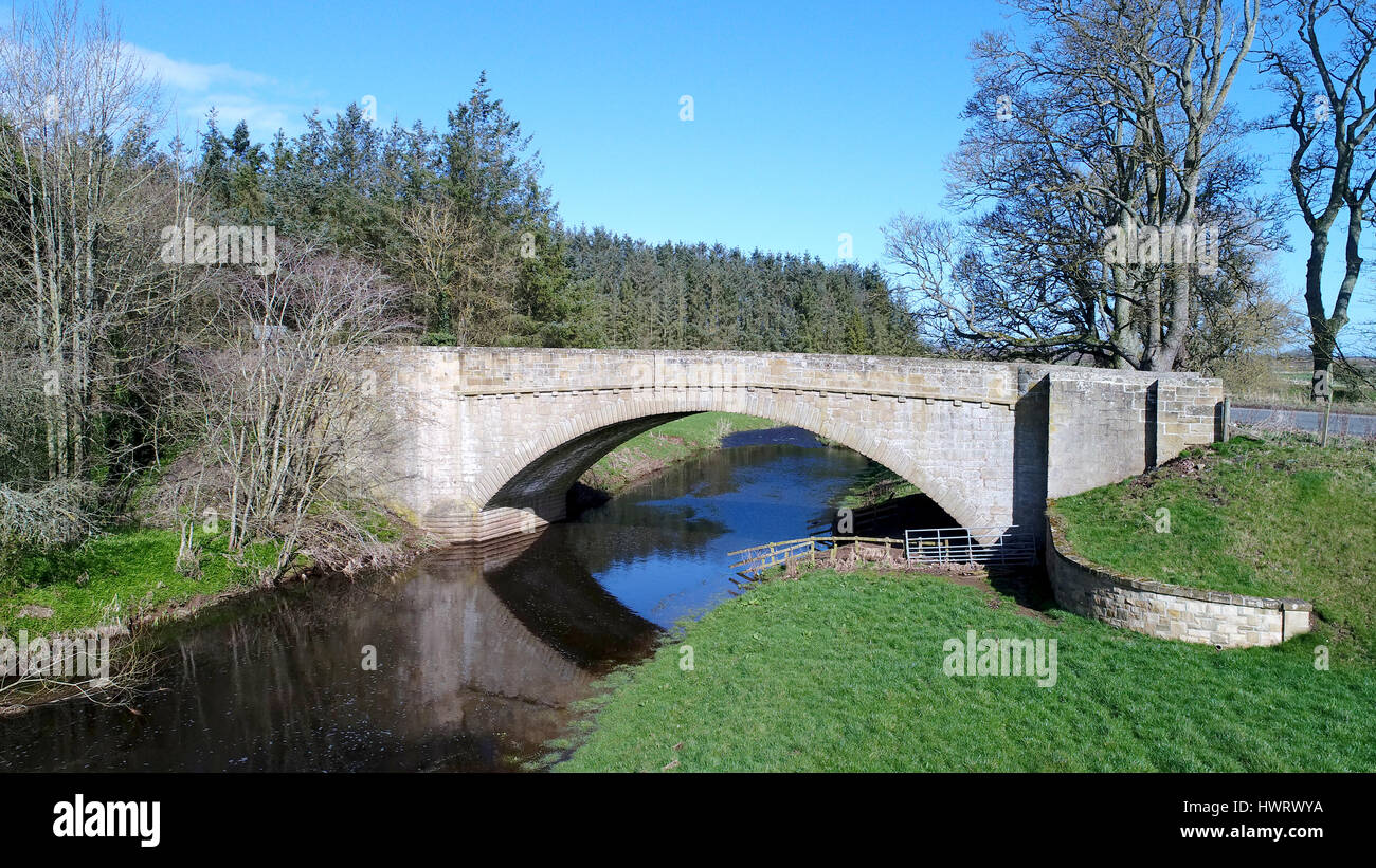 A bridge over the Blackadder Water. On the A6112 DCIM100MEDIADJI_0136.JPG - Stock Image