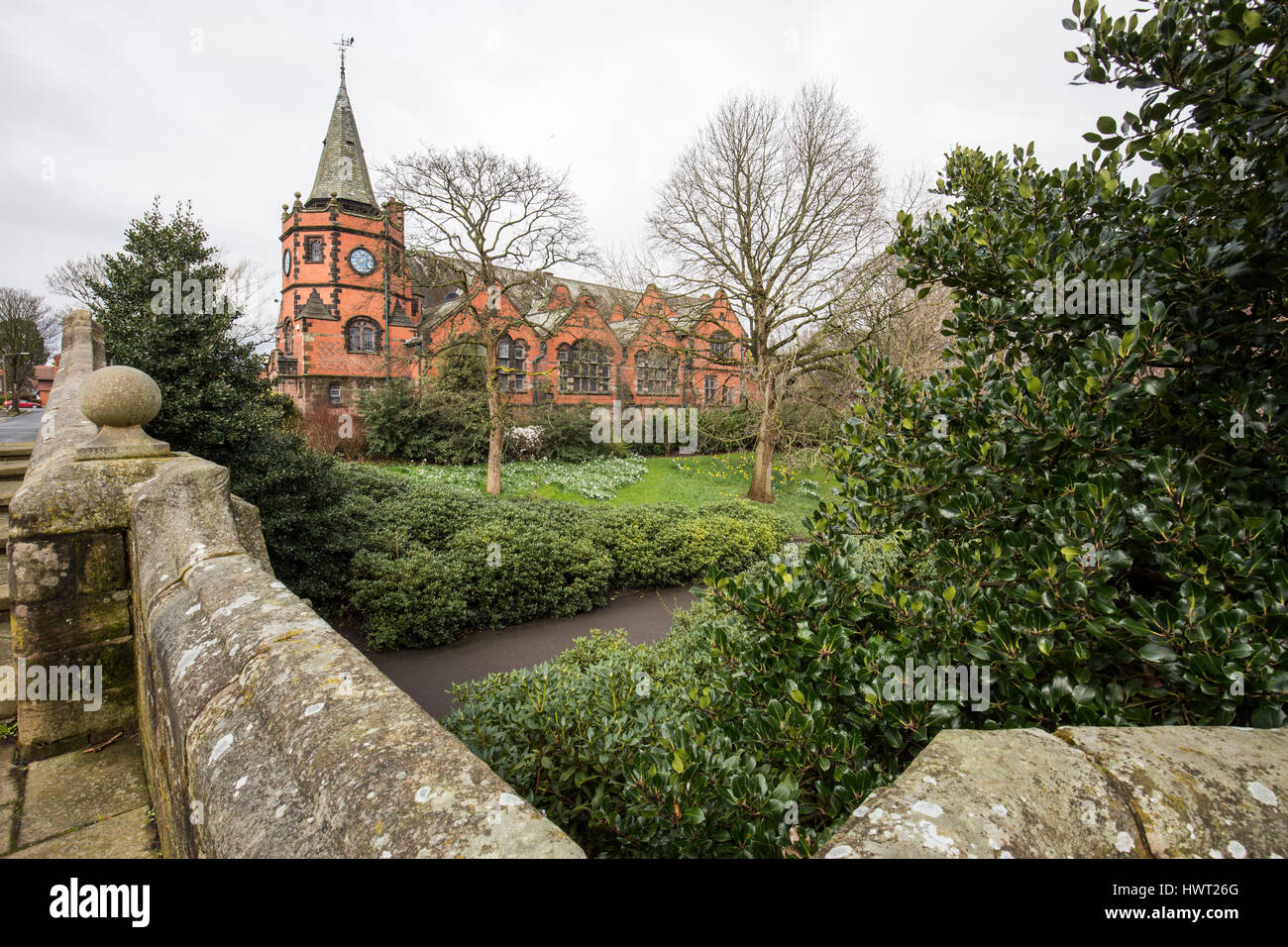 Port Sunlight - a model village and suburb in the Metropolitan Borough of Wirral, Merseyside. Lyceum building - Stock Image