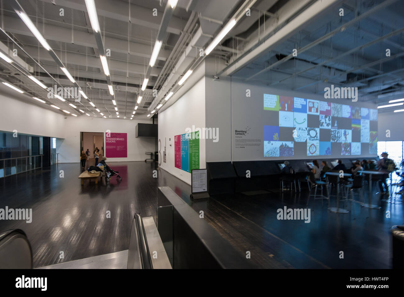 Drawing Bar - Bloomberg Connects, digital interpretation tools for modern and contemporary art and interactive installation, - Stock Image