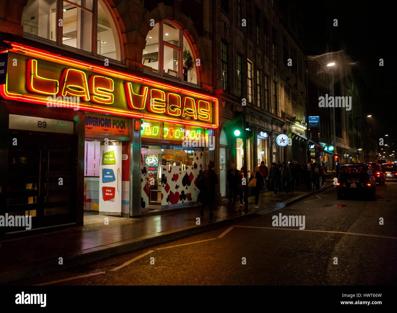 Las Vegas amusement arcade, Wardour Street, Soho, London - Stock Image
