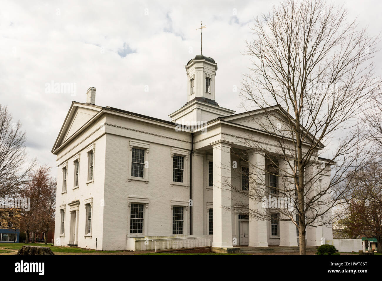 Oldest surviving Illinois State Capitol Building in Vandalia, IL. - Stock Image