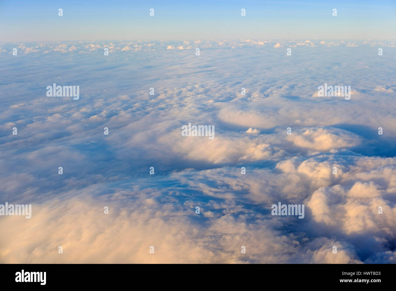 Clouds, cloud blanket over Gran Canaria, Canary Islands, Spain - Stock Image