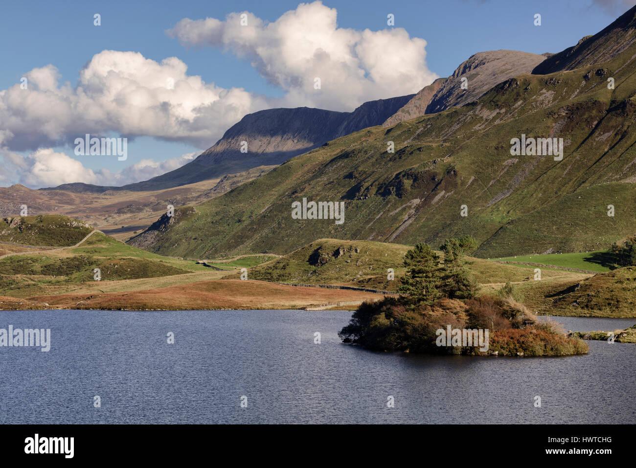 Cregennan Lakes at Cadair Idris near Dolgellau in Snowdonia in North Wales Stock Photo