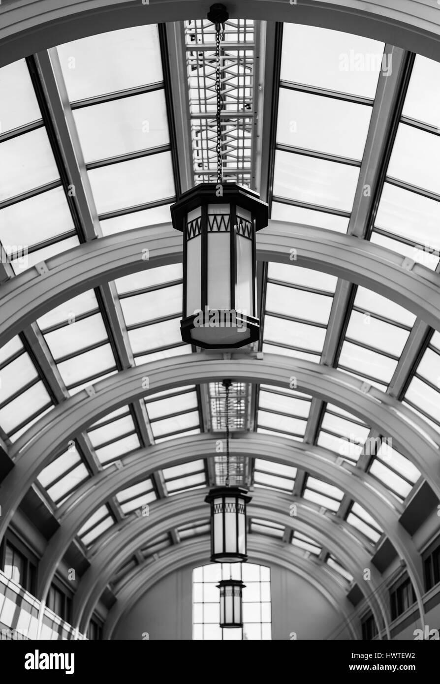 Villa Marina Arcade Glass Roof, Douglas, isle Of Man - Stock Image