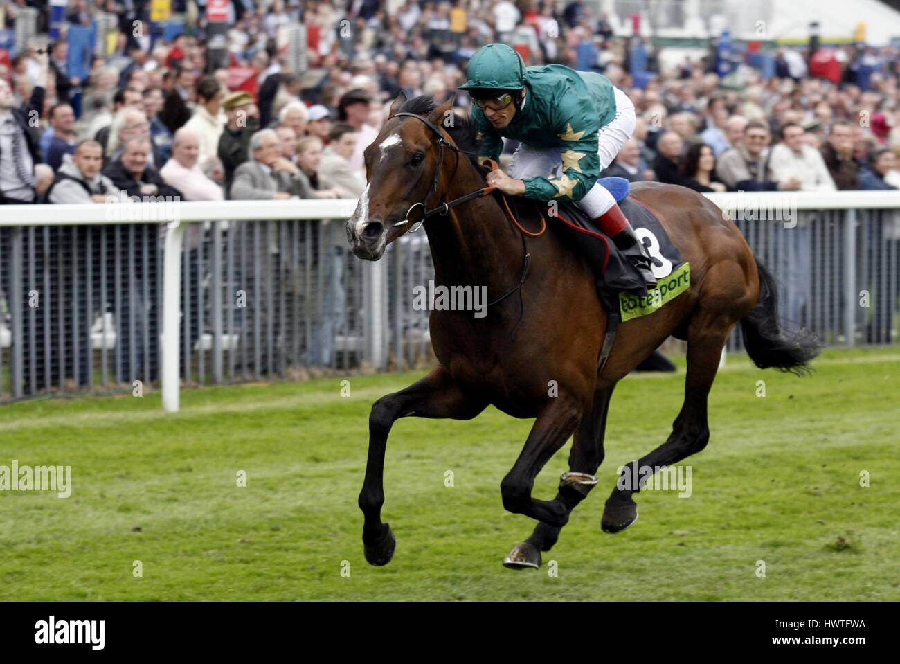 AUTHORIZED RIDDEN BY L DETTORI THE KNAVESMIRE YORK RACECORSE ENGLAND 17 May 2007 - Stock Image