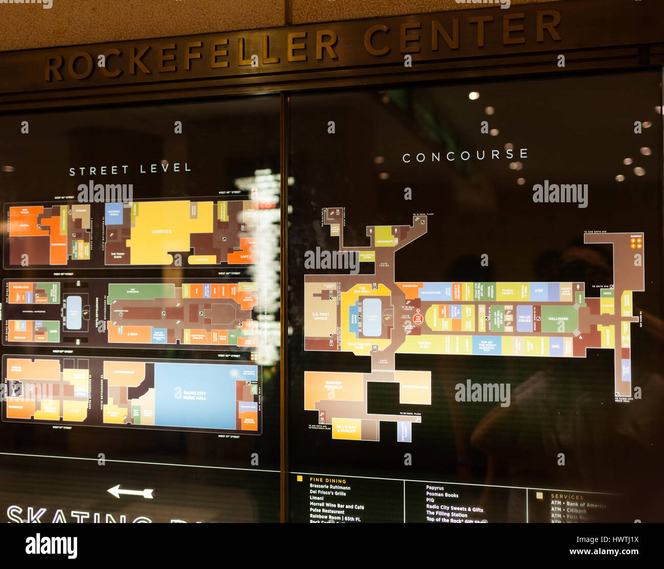 Map Of New York Rockefeller Center.New York City Usa July 12 2015 Map Od Rockefeller Center Stock