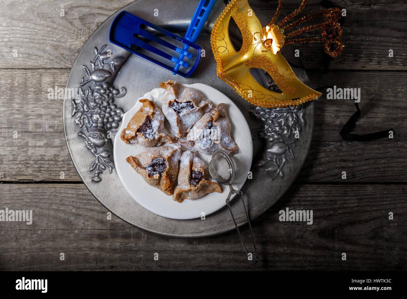 Jewish Pastry Hamantaschen - Stock Image