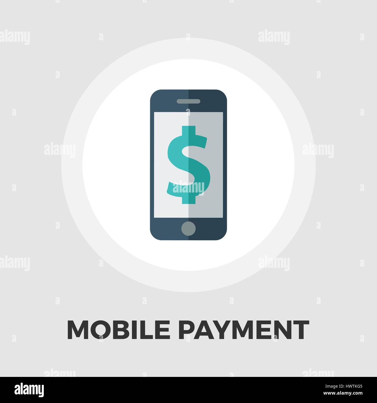 Mobile payment icon vector. Flat icon isolated on the white background. Editable EPS file. Vector illustration. - Stock Vector