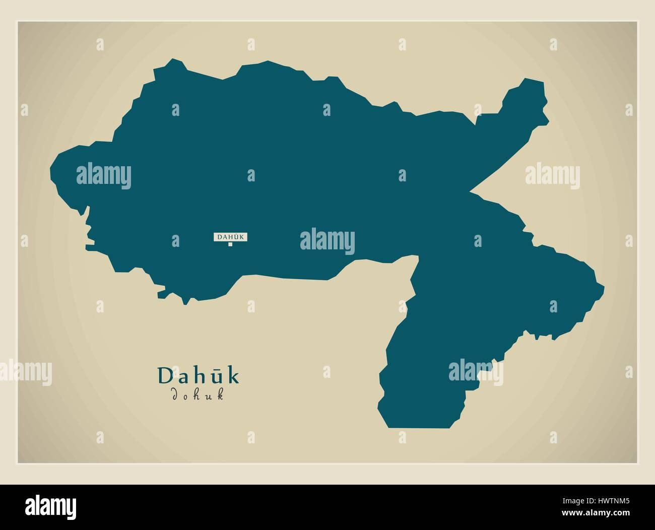Modern Map - Dahuk IQ Stock Vector Art & Illustration ...