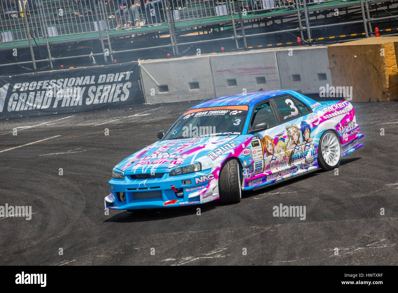 Tokyo, Japan. 18th April,2015. Ken Nomura of Team TOYO TIRES DRIFT ...