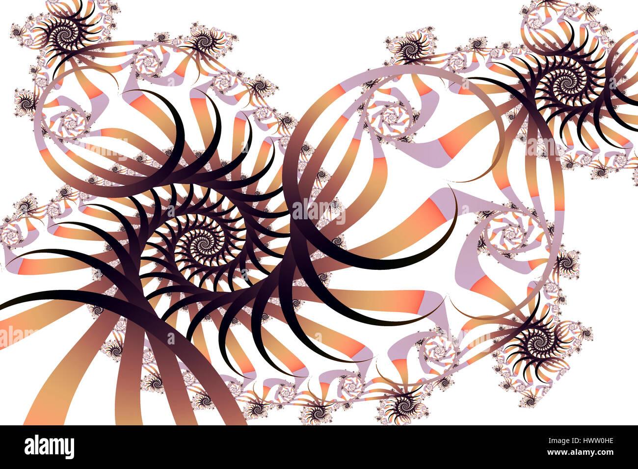 Fractal Spiral Pattern - Stock Image