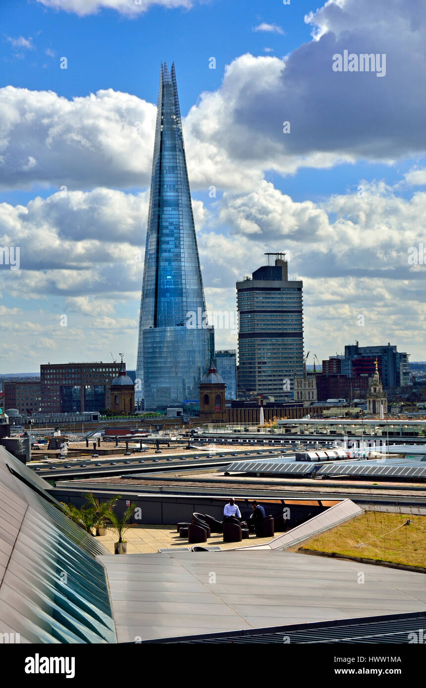 London, England, UK. The Shard seen from the roof of One New Change (opposite St Paul's Cathedral) - Stock Image