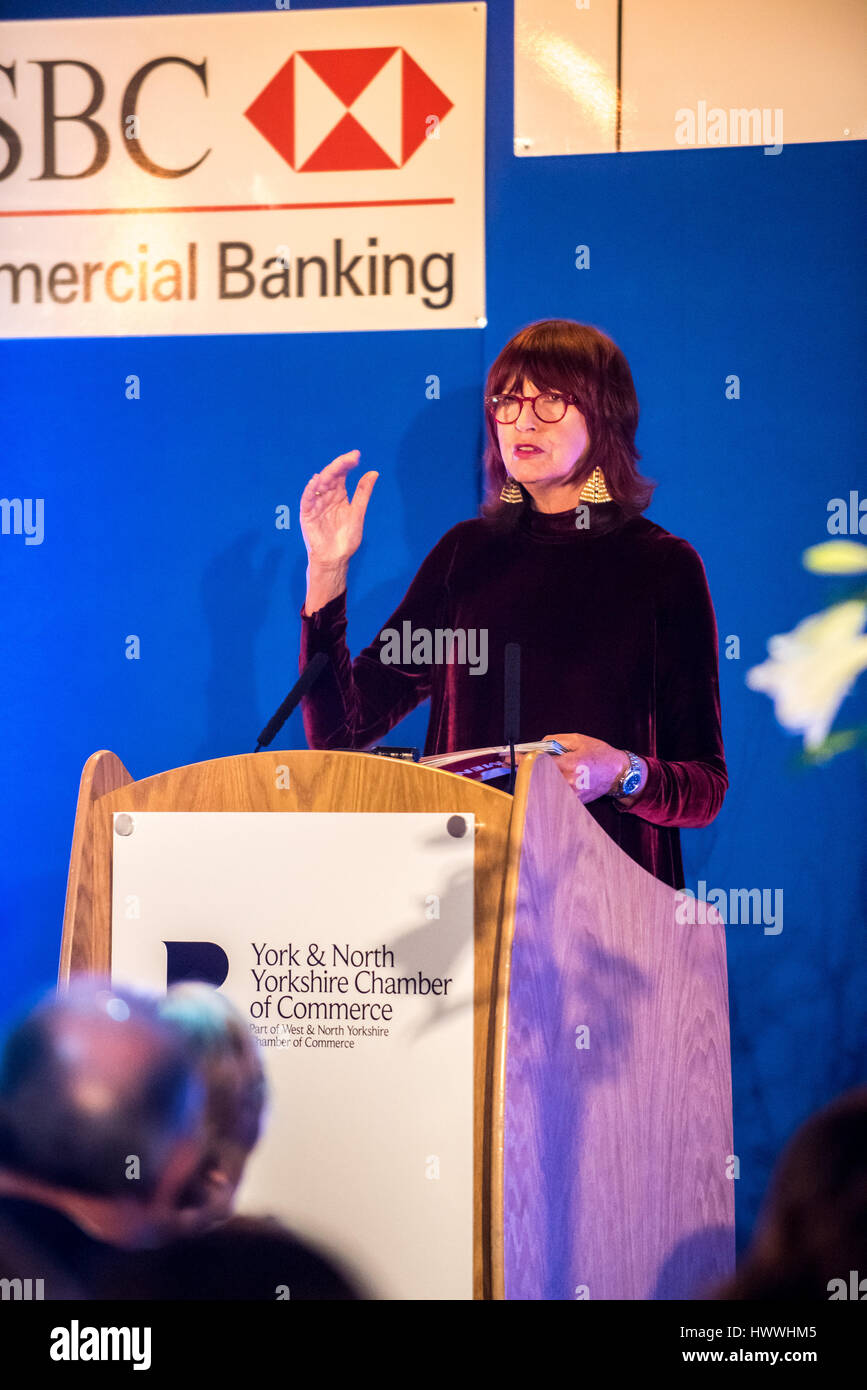 York, UK. 23rd March, 2017. Janet Street-Porter CBE, English celebrity, media personality, journalist and broadcaster, Stock Photo