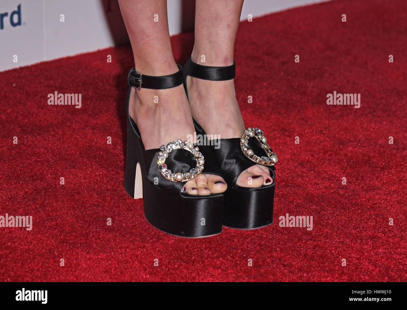 New York Ny Usa 23rd Mar 2017 Bel Powley Shoe Detail At Stock