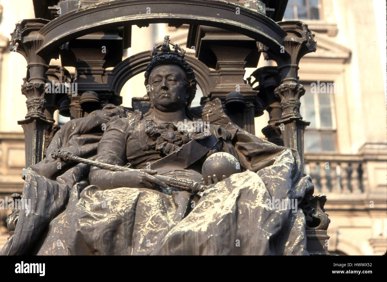 Queen Victoria Buckingham Palace - Stock Image