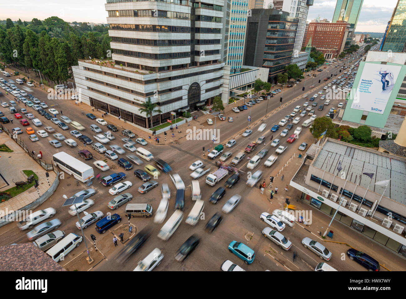 Harare is the capital city of Zimbabwe - Stock Image