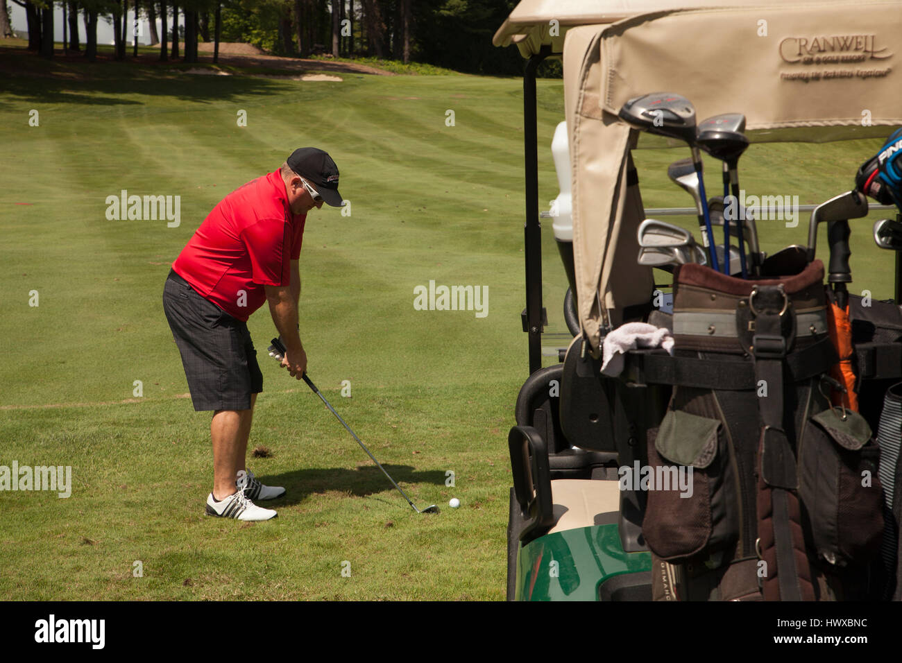 Golf on a sunny day. - Stock Image