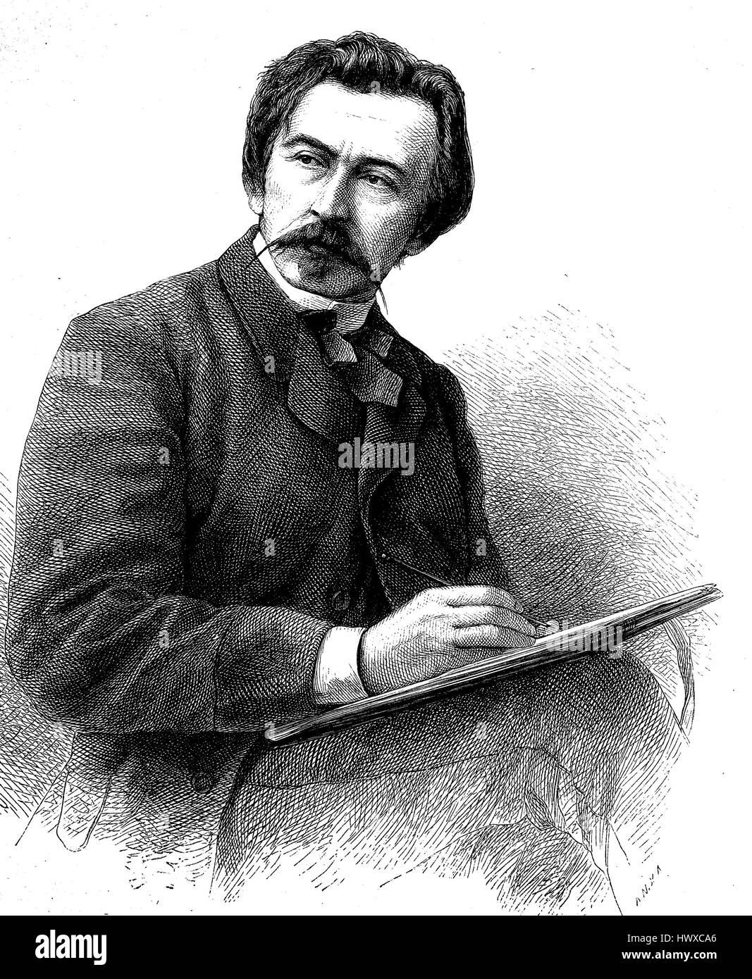 Herbert Koenig also Heribert Koenig, 1820 in Dresden - 13 June 1876 in Niederloessnitz, was a German artist, illustrator - Stock Image