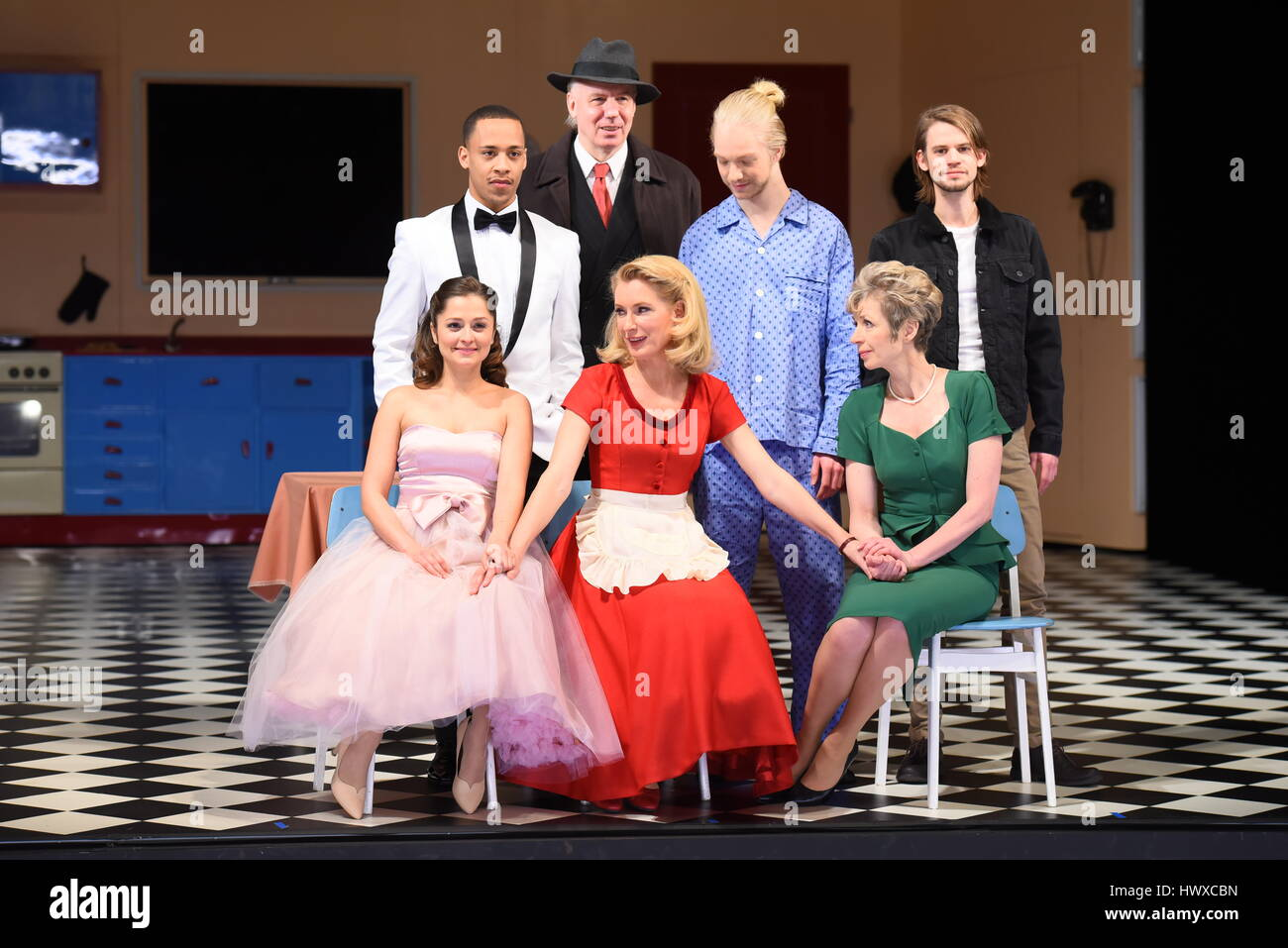 Press rehearsal of the play 'Alles muss glaenzen' at the Kurfürstendamm Theatre  Featuring: Sarah Alles, - Stock Image