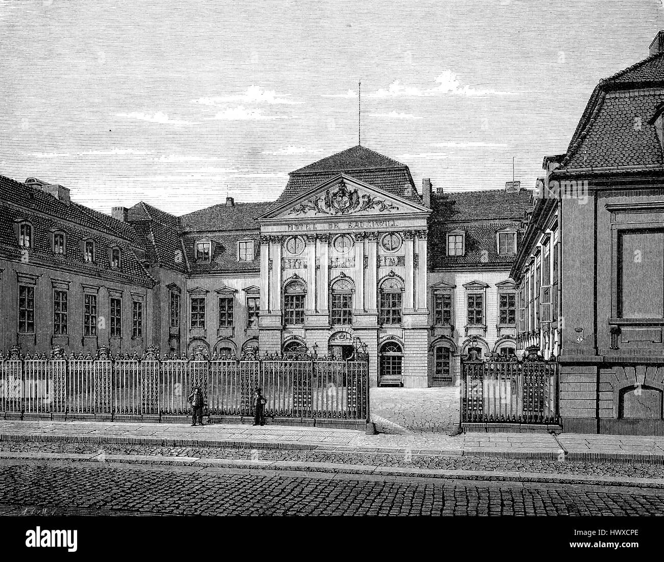 The Palais Radziwill, also called Palais Schulenburg or the Old Reich Stock  Photo - Alamy