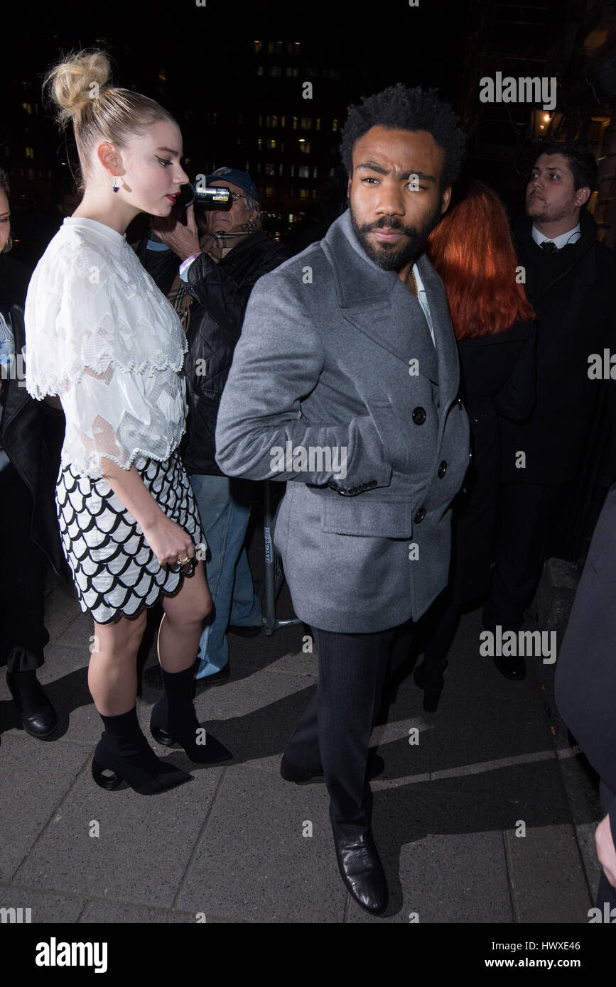 London Fashion Week - Burberry party, with Love Magazine at Annabel's Club - Arrivals  Featuring: Donald Glover, - Stock Image