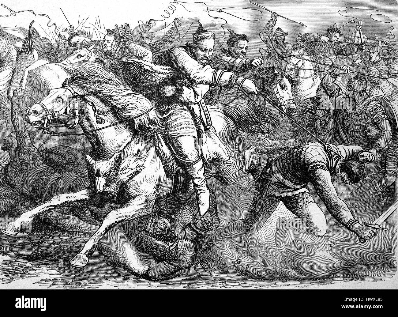 the huns in battle with the alans or alani were an iranian nomadic