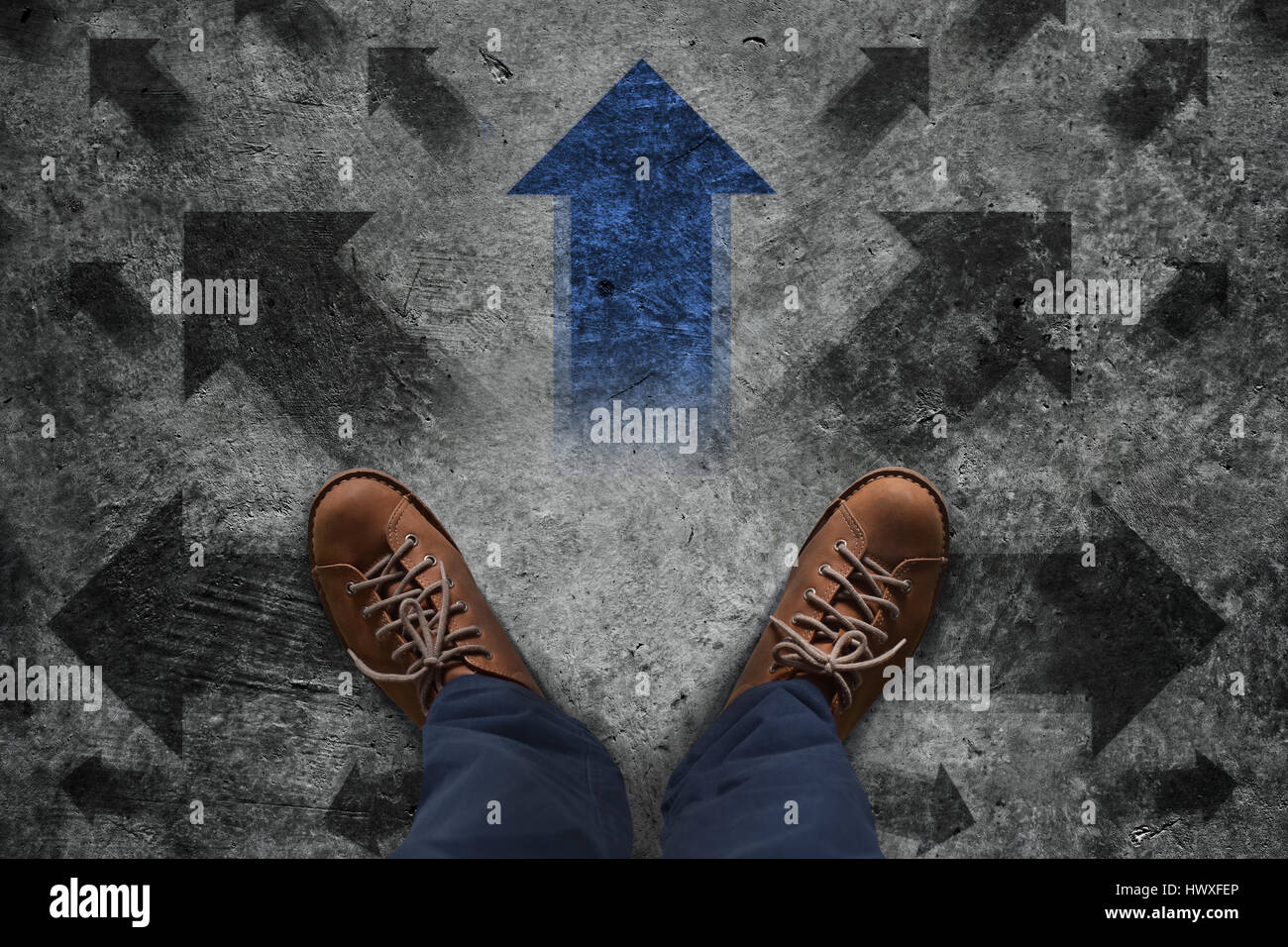 Making Decision Concept Top View Of Male In Leather Shoe Stand Over Stock Photo Alamy My friend was telling me to set the arrow direction using point how can i set both the position and direction of the popover's arrow? alamy