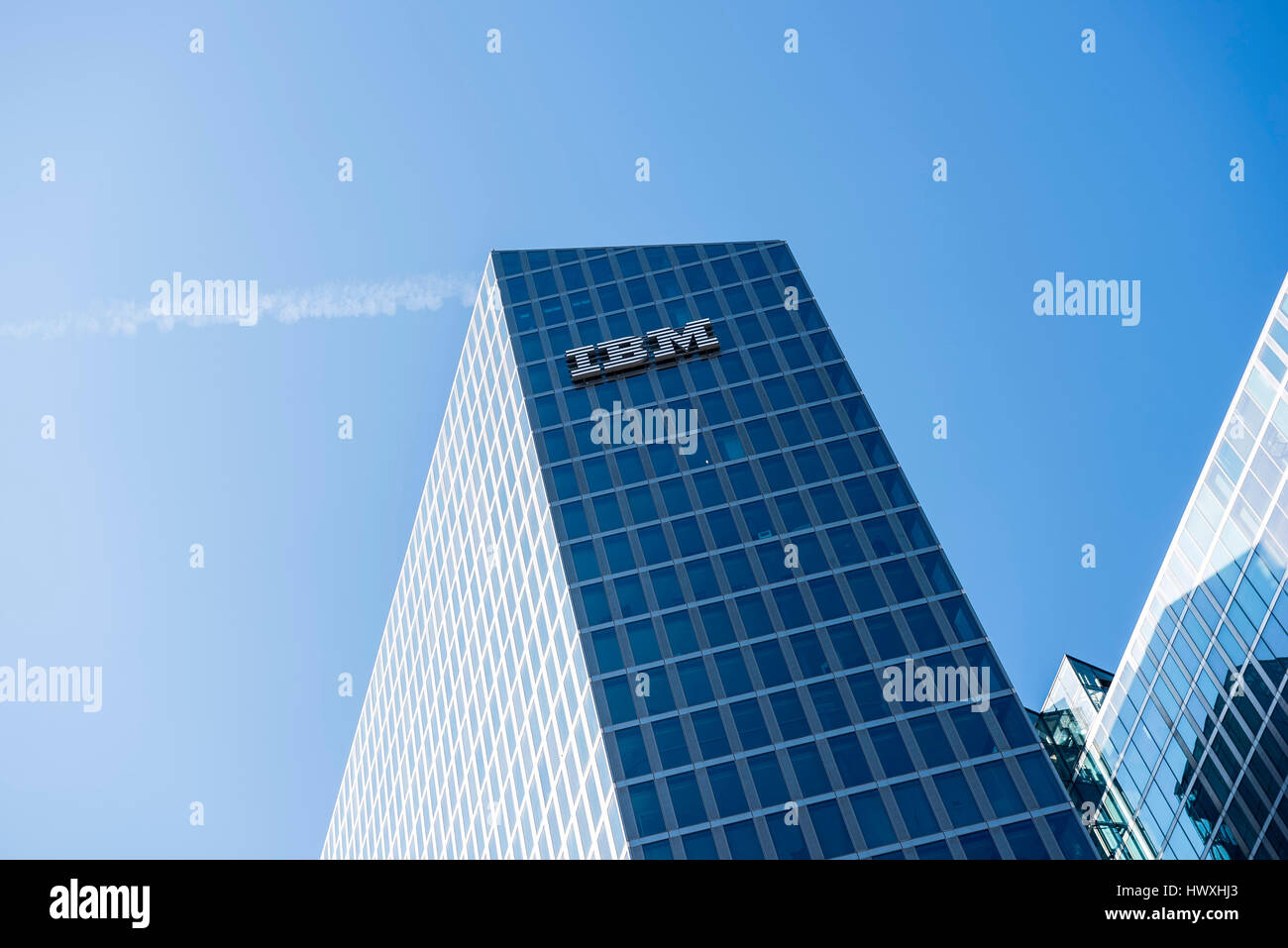 IBM Building with Watson IoT Center, Munich, Germany - Stock Image