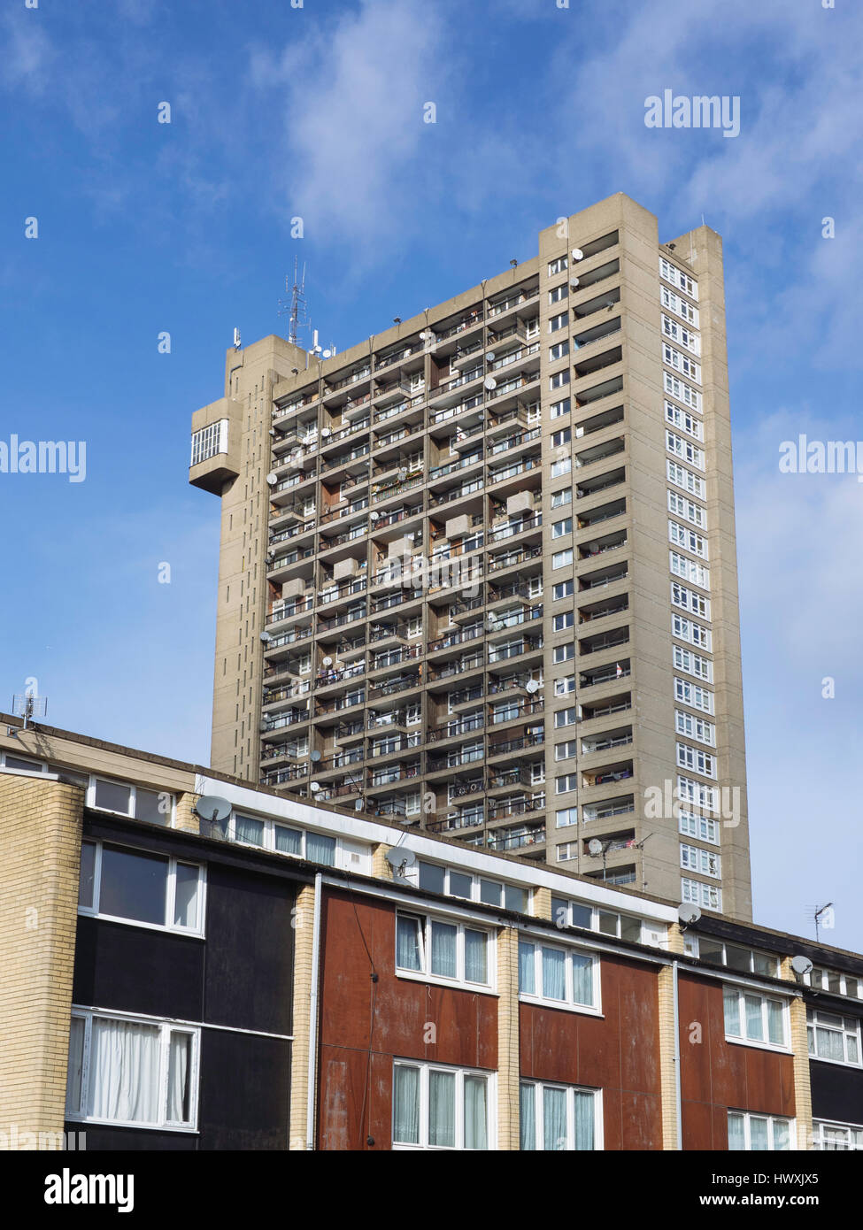 Trellick Tower, Notting Hill, London, England, UK - Stock Image