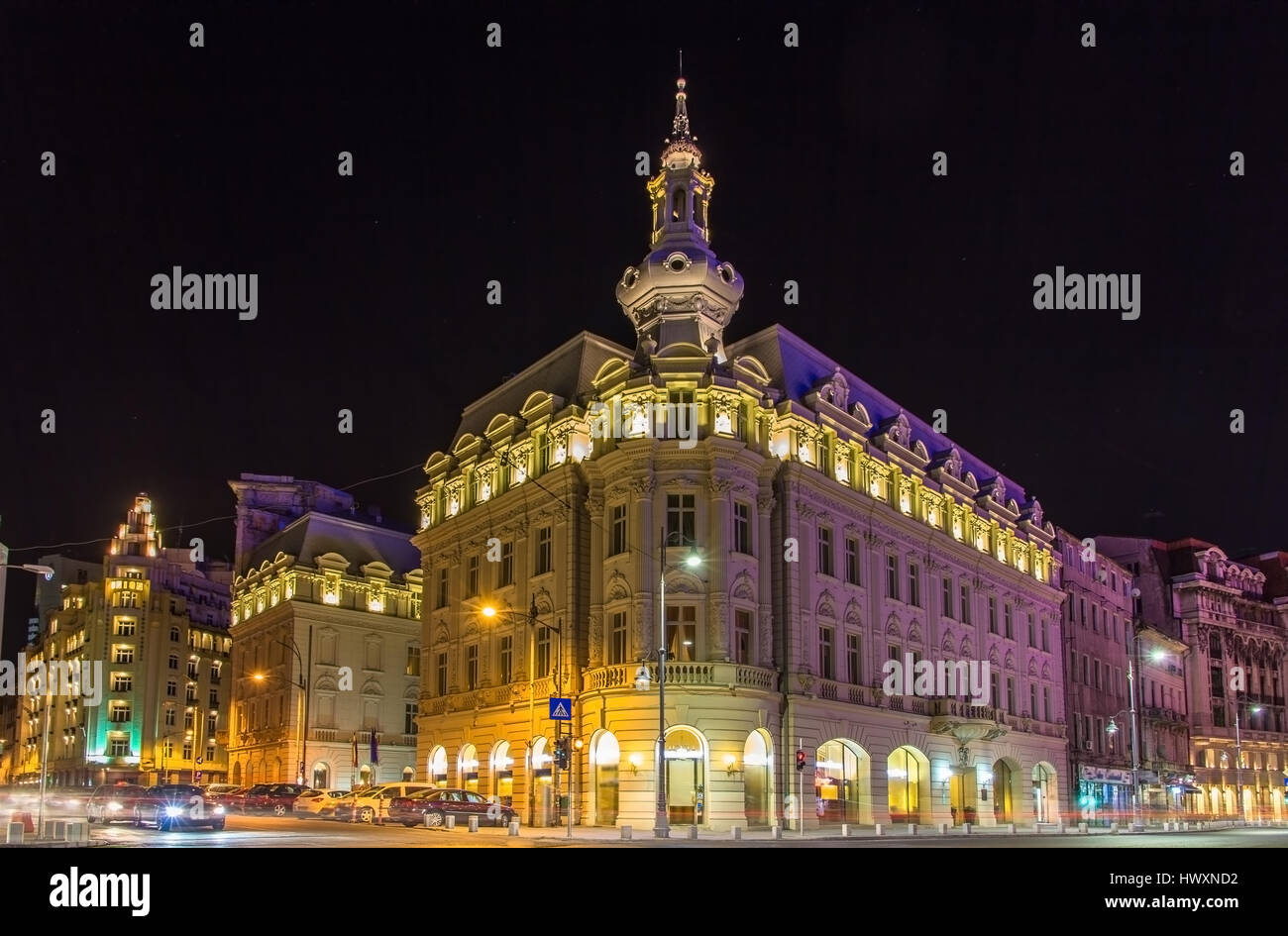 Buildings in Bucharest city center - Romania - Stock Image