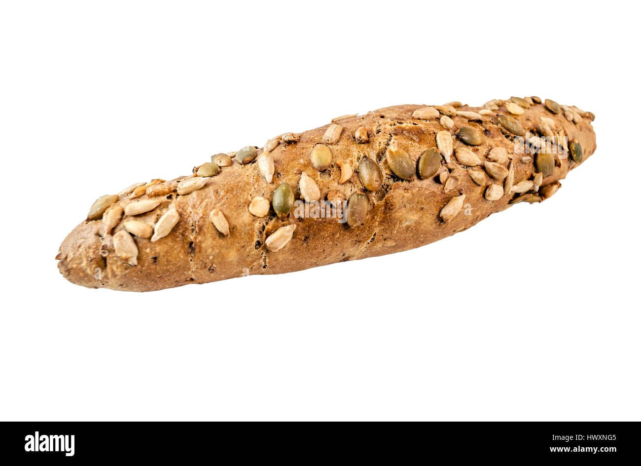 Freshly baked dietary bread roll - Stock Image