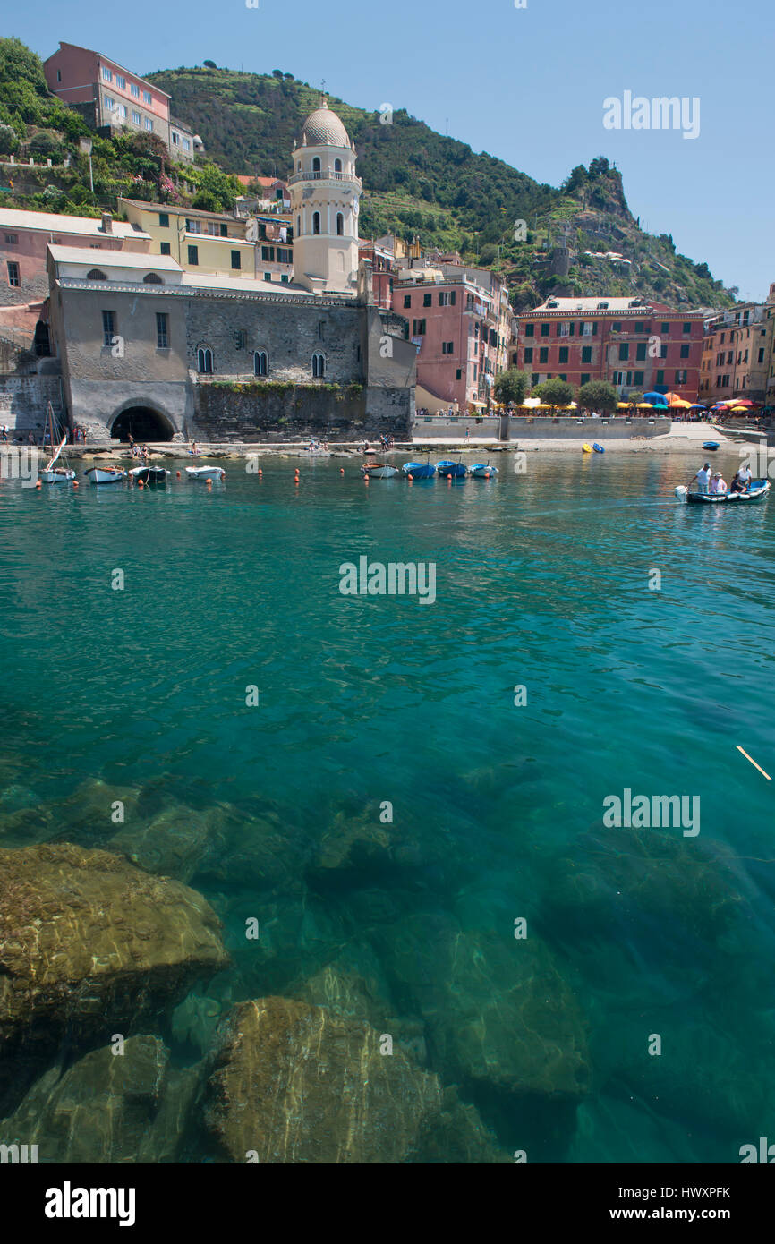 The Heart Of Cinque Terre the church in the picturesque village of vernazza in the