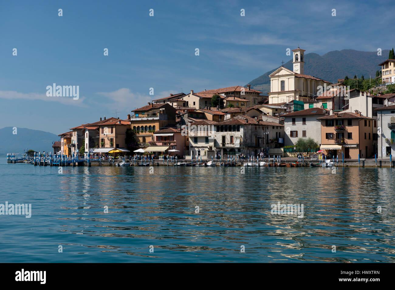 Peschiera Maraglio, village on Montisola, on the Iseo Lake, Italy Stock Photo