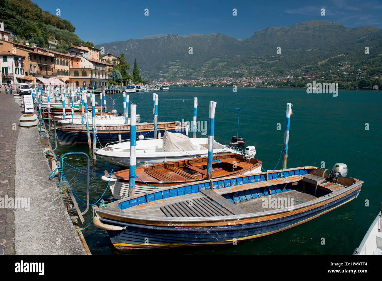 Peschiera Maraglio, village on Montisola, on the Iseo Lake, Italy - Stock Image
