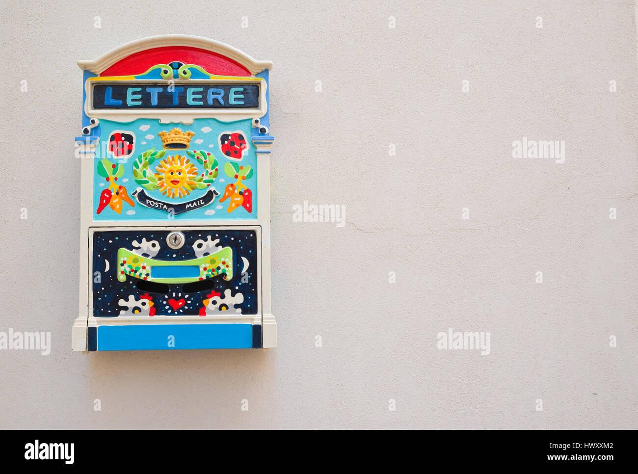 Postbox. Rutigliano. Puglia. Italy. - Stock Image