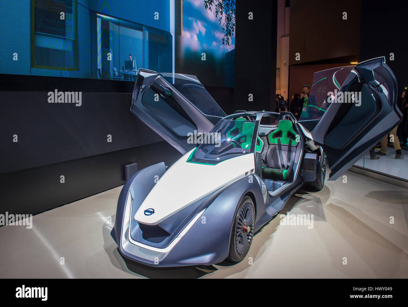 LAS VEGAS - JAN 08 : The Nissan Concept car at the CES Show in Las Vegas, Navada, on January 08, 2017. CES is the - Stock Image