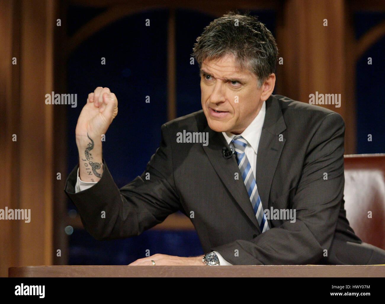 Host Craig Ferguson Shows Off His Tattoo During A Segment Of