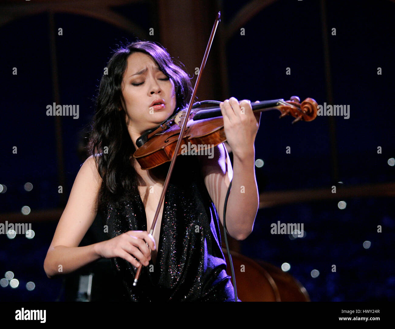 Violinist Lucia Micarelli performs during a segment of  The Late Late Show  with Craig Ferguson  at CBS Television City in Los Angeles 001c83aa1a5