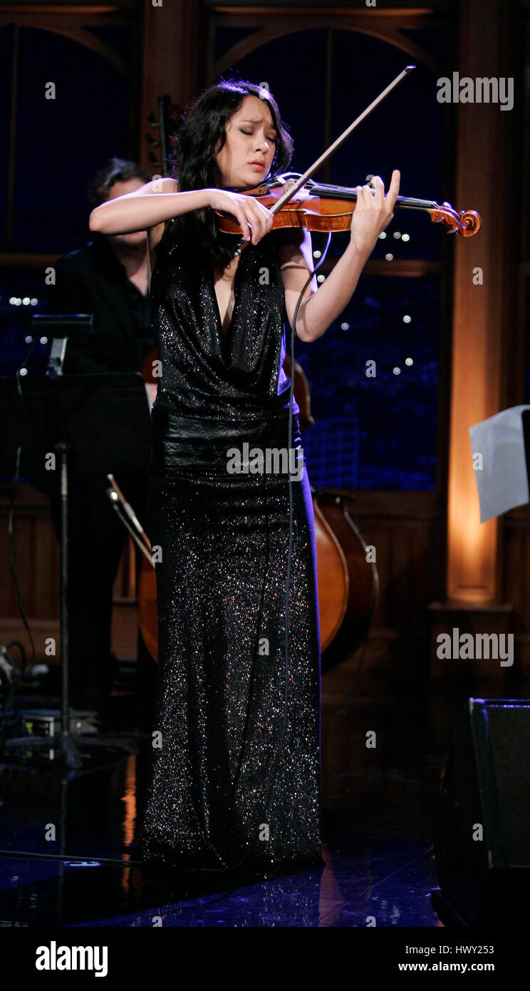 Violinist Lucia Micarelli performs during a segment of  The Late Late Show  with Craig Ferguson  at CBS Television City in Los Angeles fe240b46132