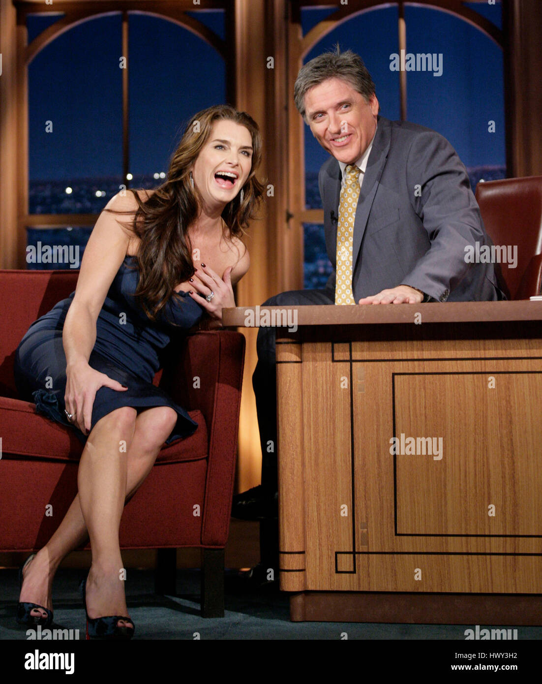 Actress Brooke Shields, Left, Chats With Host Craig Ferguson During A  Segment Of U0027The Late Late Show With Craig Fergusonu0027 At CBS Television City  In Los ...