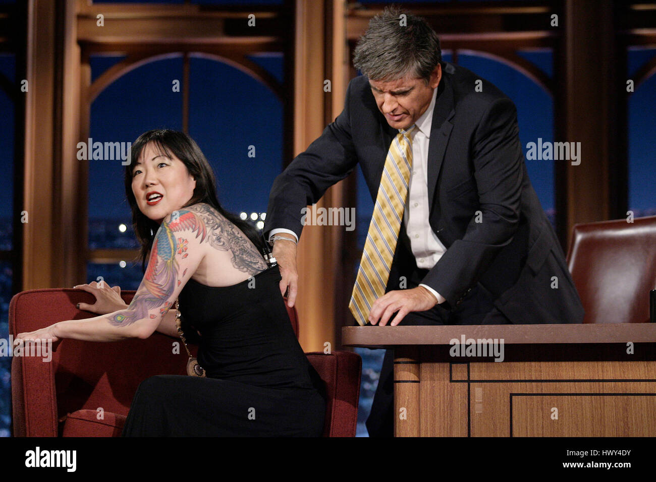 Margaret Cho Left Shows Off Her Tattoos To Host Craig