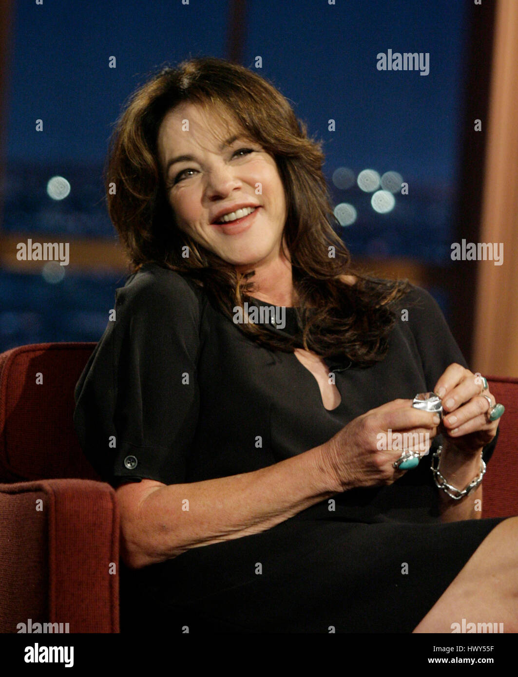Actress Stockard Channing during a segment of 'The Late Late Show with Craig Ferguson' at CBS Television - Stock Image