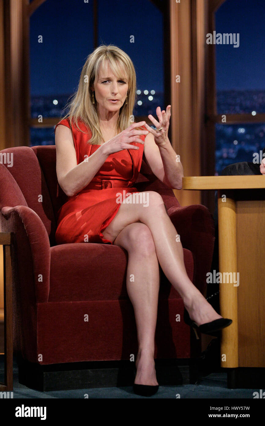 Actress Helen Hunt during a segment of 'The Late Late Show ...