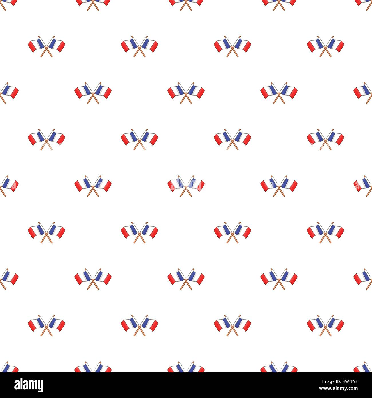 French flag pattern, cartoon style - Stock Image