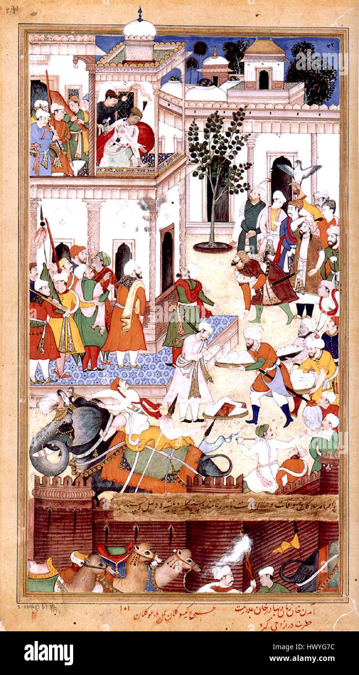 1561 The Submission of the rebel brothers Ali Quli and Bahadur Khan  Akbarnama