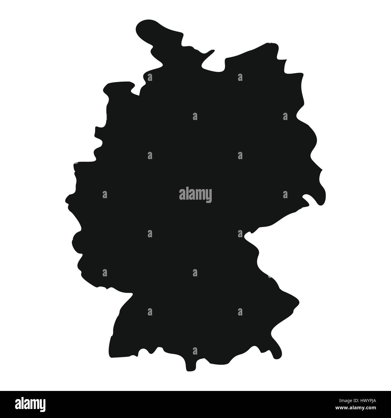 Simple Map Of Germany.Map Of Germany Icon Simple Style Stock Vector Art Illustration