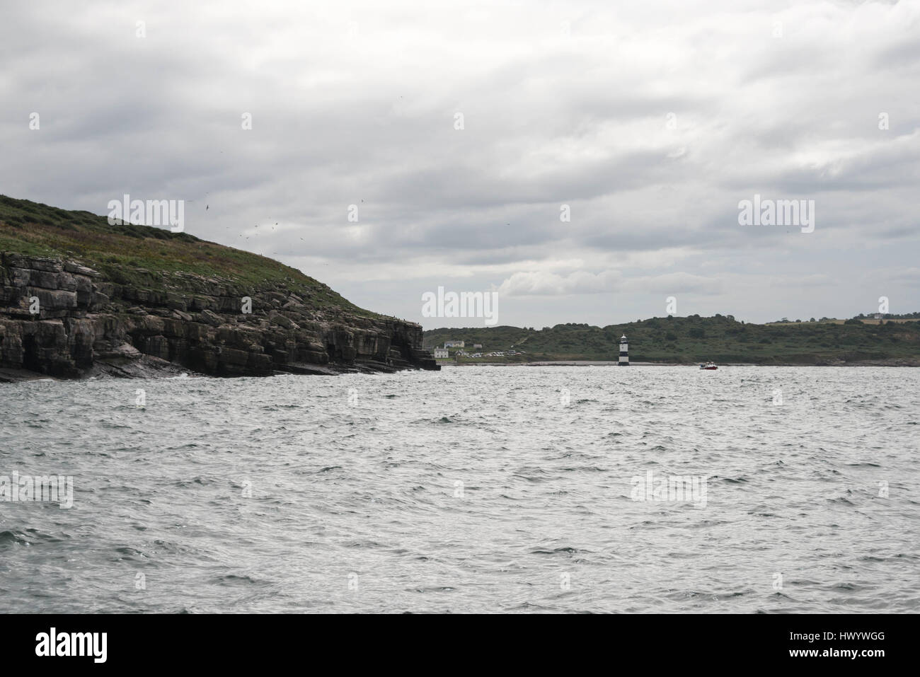 Penmon Point Lighthouse,  Anglesey, North Wales Stock Photo