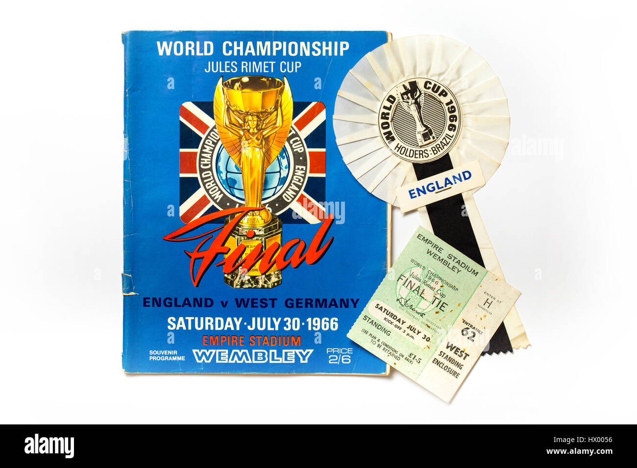 1966 World Cup Final Football Program When England Beat West Germany 4-2 to win the World Cup - Stock Image