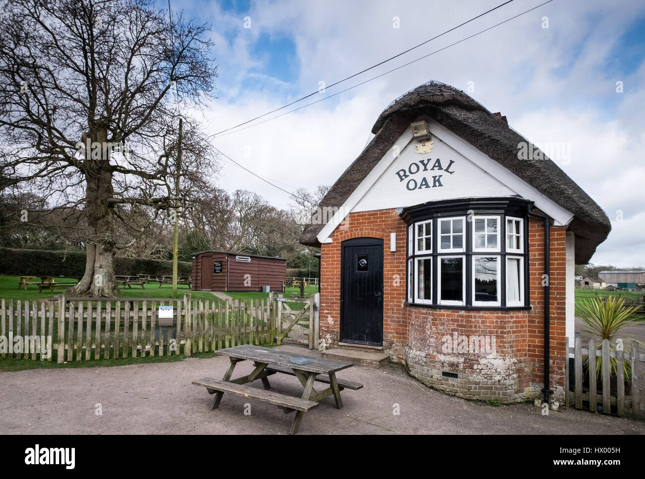 The Royal Oak pub in Fritham in the New Forest, Hampshire - Stock Image