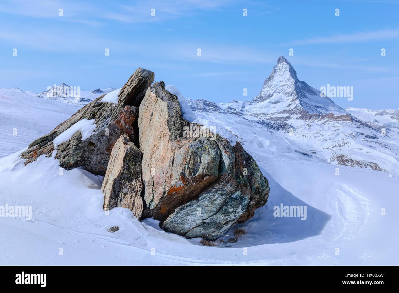 Matterhorn, Zermatt, Gornergrat, Valais, Switzerland, Europe - Stock Image